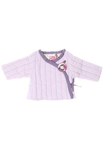 la tribbu vestes fille de couleur violet