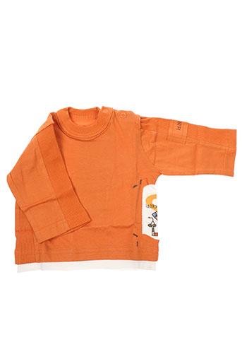 T-shirt manches longues orange LA TRIBBU pour garçon