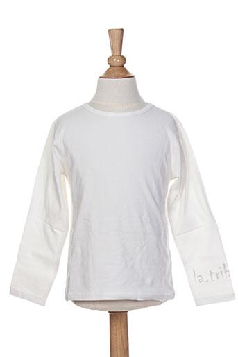 la tribbu t et shirts et tops enfant de couleur blanc