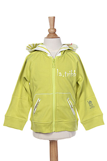 Veste casual vert LA TRIBBU pour fille
