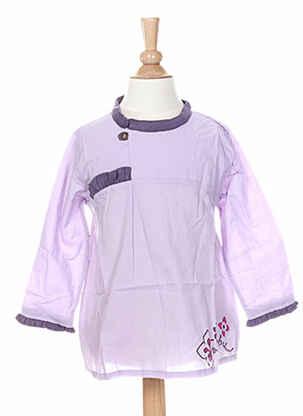 Tunique manches longues violet LA TRIBBU pour fille
