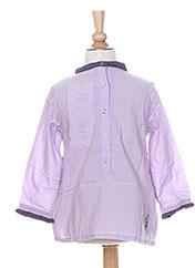 Tunique manches longues violet LA TRIBBU pour fille seconde vue