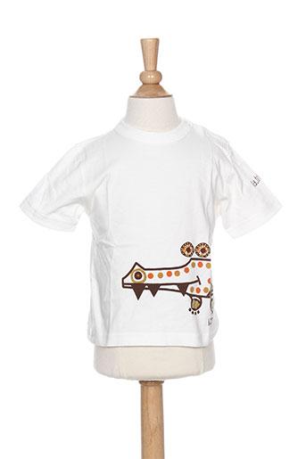 T-shirt manches courtes blanc LA TRIBBU pour garçon