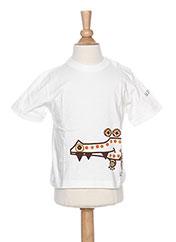 T-shirt manches courtes blanc LA TRIBBU pour garçon seconde vue