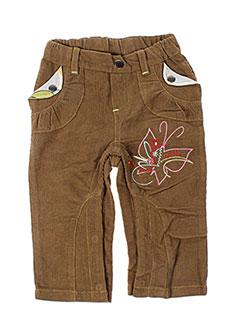 Pantalon casual marron LA TRIBBU pour fille