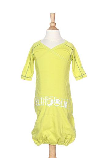Robe longue vert LA TRIBBU pour fille