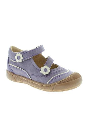 la tribbu chaussures fille de couleur violet