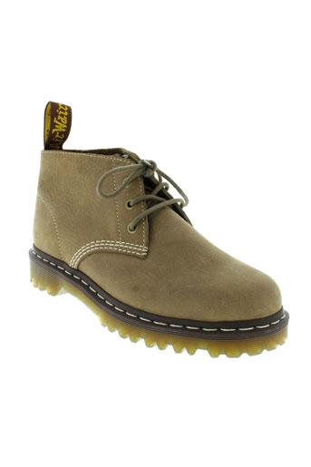 dr et martens boots homme de couleur beige