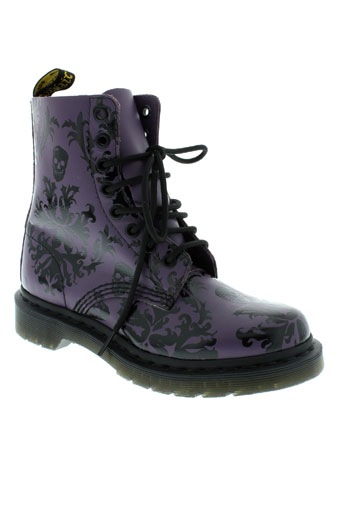 dr et martens bottines femme de couleur violet