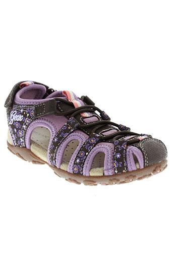 geox sandales et nu et pieds fille de couleur marron