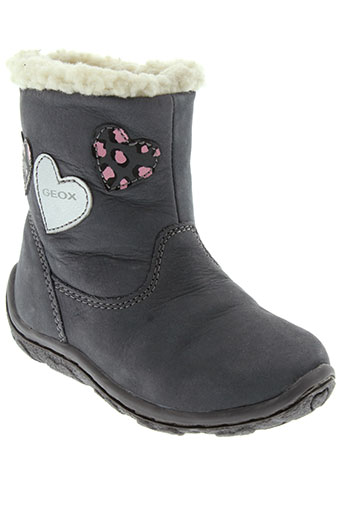 geox boots fille de couleur gris