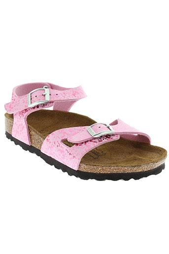 birki et s sandales et nu et pieds fille de couleur rose