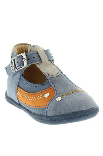 minibel chaussures fille de couleur bleu
