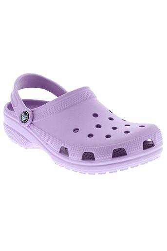 crocs mules et sabots enfant de couleur violet