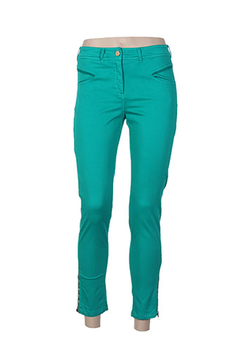 paul brial pantalons femme de couleur vert