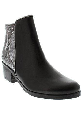 coco et abricot chaussures femme de couleur noir