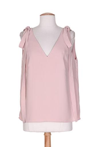 high chemises femme de couleur rose