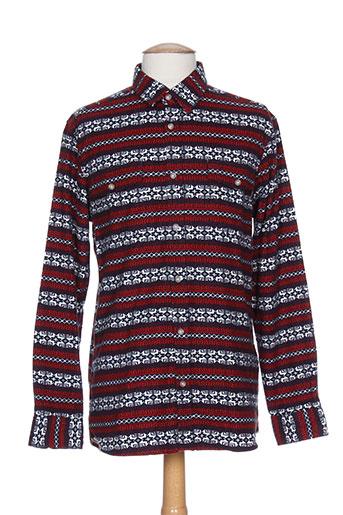 wesc chemises homme de couleur rouge