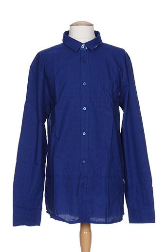 wesc chemises homme de couleur bleu
