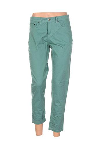 imitz pantalons femme de couleur vert