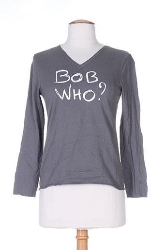 T-shirt manches longues gris BOB SINCLAR pour femme