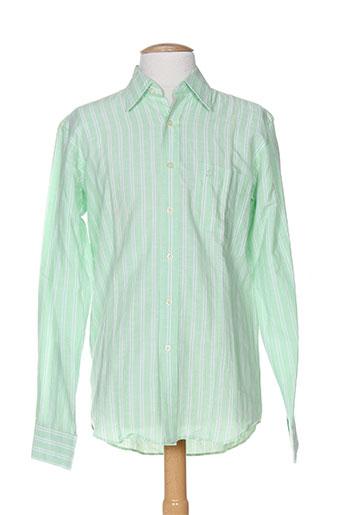 daniel hechter chemises homme de couleur vert