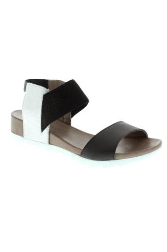 lune et l et autre sandales et nu et pieds femme de couleur noir