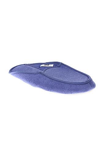 canat pantoufle femme de couleur bleu