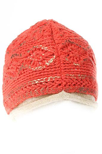 daniela et dallavalle chapeaux et bonnets femme de couleur orange