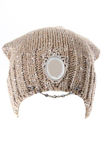 daniela et dallavalle chapeaux et bonnets femme de couleur marron