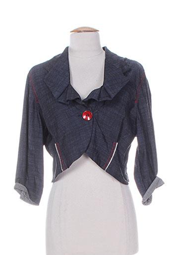 double jeu vestes femme de couleur bleu