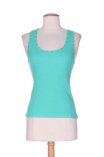loona t-shirts femme de couleur bleu