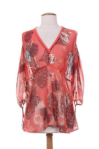 eva kayan chemises femme de couleur rouge