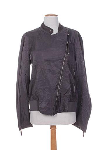high vestes femme de couleur gris