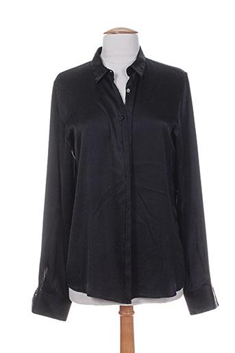 her shirt chemises femme de couleur noir