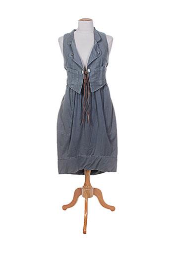 high robes femme de couleur bleu