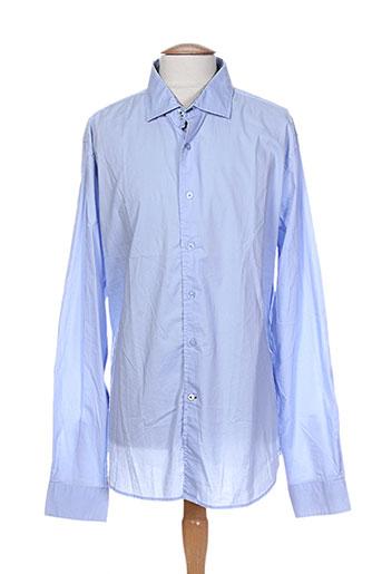 ganesh chemises homme de couleur bleu