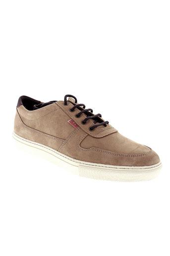 slam chaussures homme de couleur beige