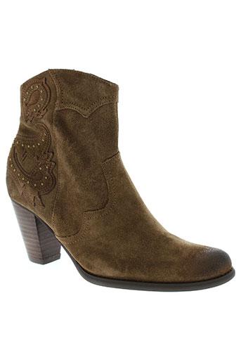 fugitive boots femme de couleur marron