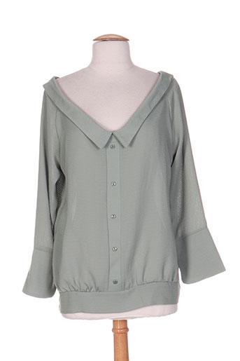 show girls chemises femme de couleur vert