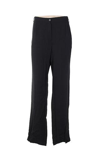 telmail pantalons femme de couleur noir