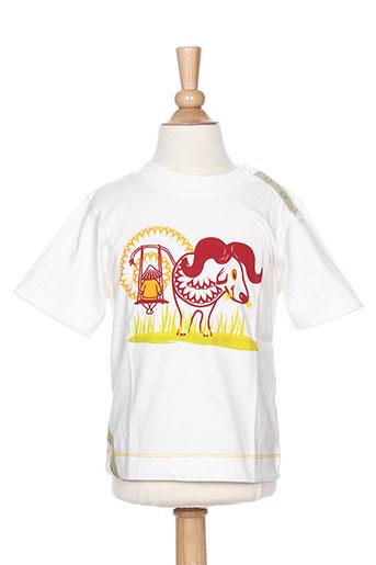 T-shirt manches courtes blanc LA TRIBBU pour enfant