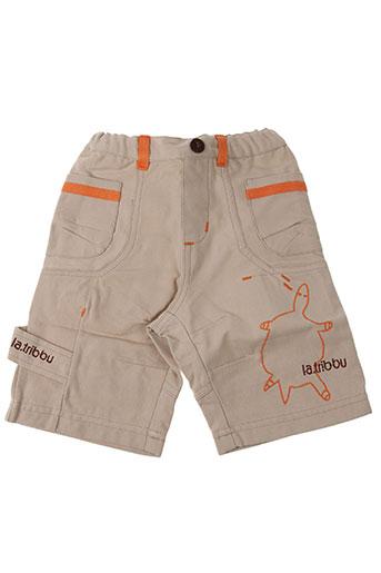 Pantalon casual beige LA TRIBBU pour garçon