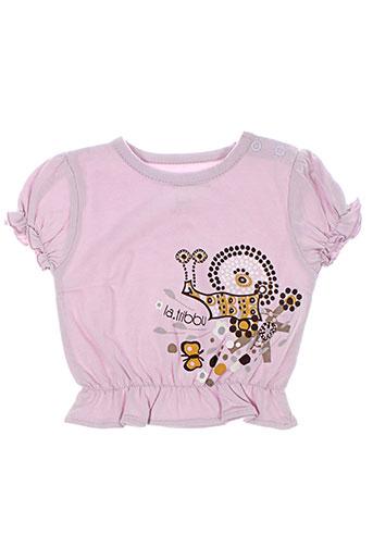 T-shirt manches courtes violet LA TRIBBU pour fille