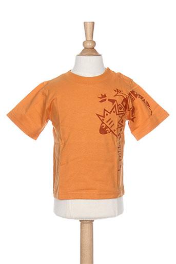 T-shirt manches courtes orange LA TRIBBU pour garçon
