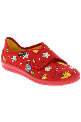 bellamy pantoufle fille de couleur rouge