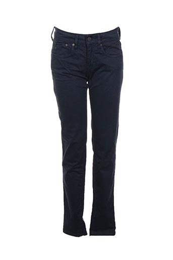 Pantalon casual bleu CORLEONE pour femme