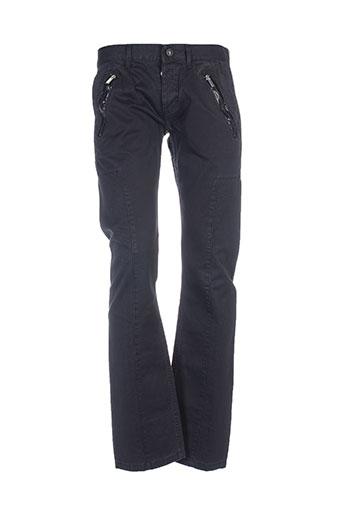 bikkembergs pantalons homme de couleur bleu