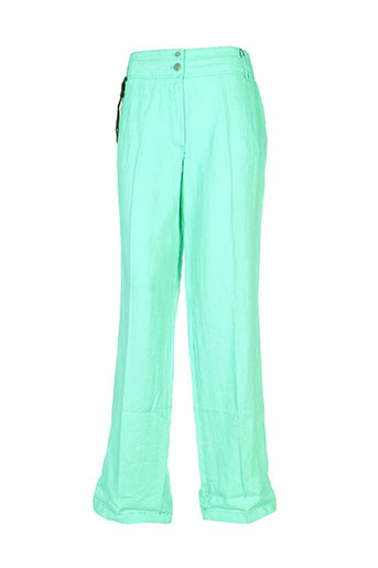 olsen pantalons femme de couleur vert