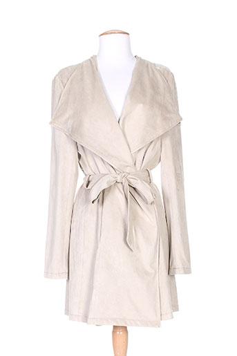 Veste casual beige BURETTI pour femme